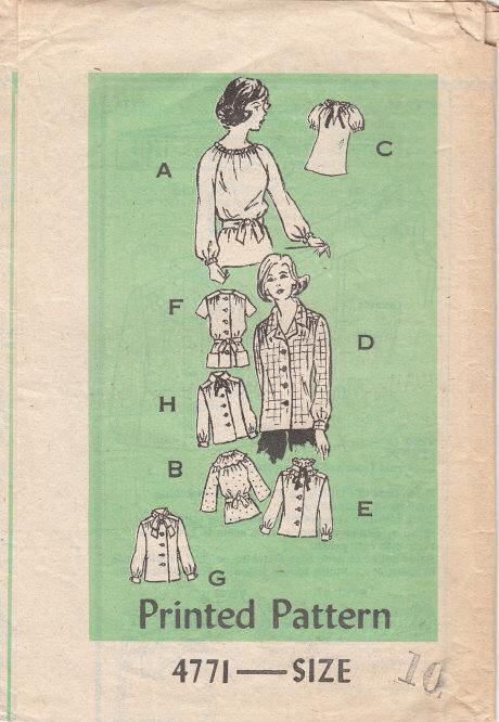 Vintage 80s Sewing Pattern Anne Adams Blouse