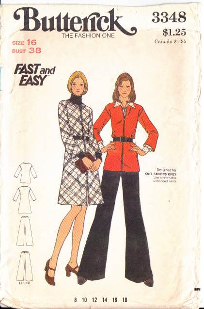 Butterick 3348, vintage, sewing, pattern, Jumper, Dress, Pants, Top