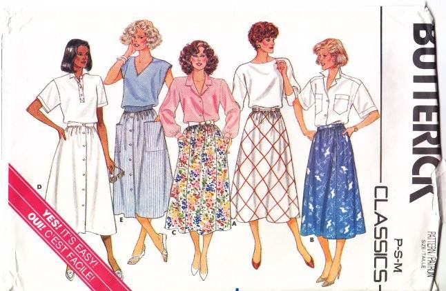 Butterick 3826, Flared, A-Line, Skirt, Sewing Pattern