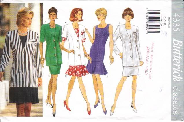 Butterick 4335, Flounced Dress Sewing Pattern