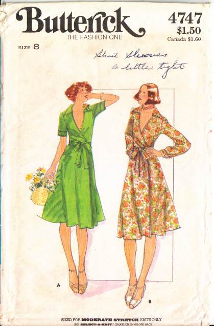 Butterick 4747 70s Disco Wrap Dress Sewing Pattern 8 B31