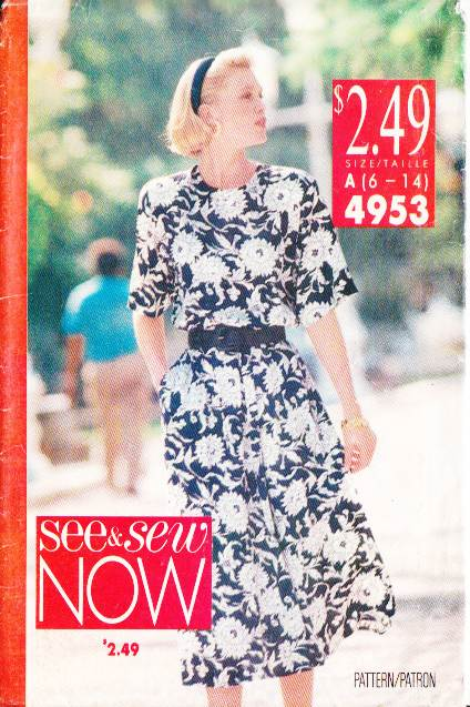 Butterick 4953, vintage, sewing, pattern, Pullover dress
