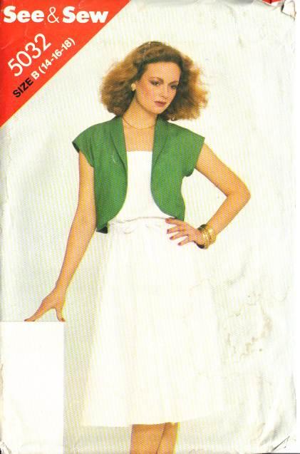 Butterick 5032 Sundress, Dress & Jacket Sewing Pattern 14-1