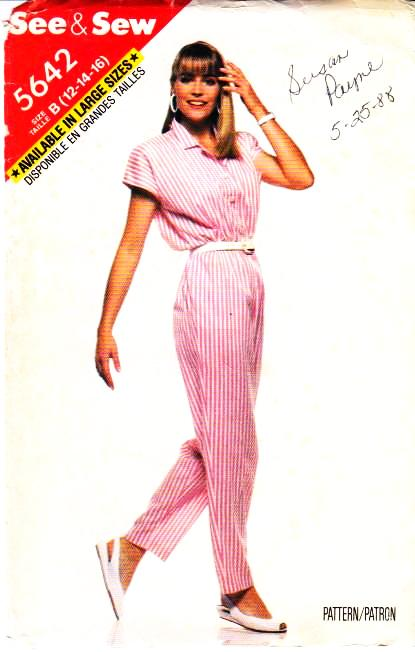 Butterick 5642 jumpsuit Sewing Pattern