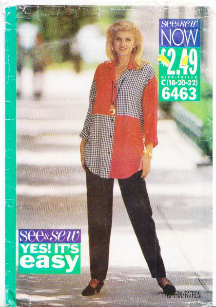 Butterick 6463 Blouse Pants Sewing Pattern