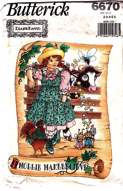 Butterick 6670 Girls Dress Sewing Pattern