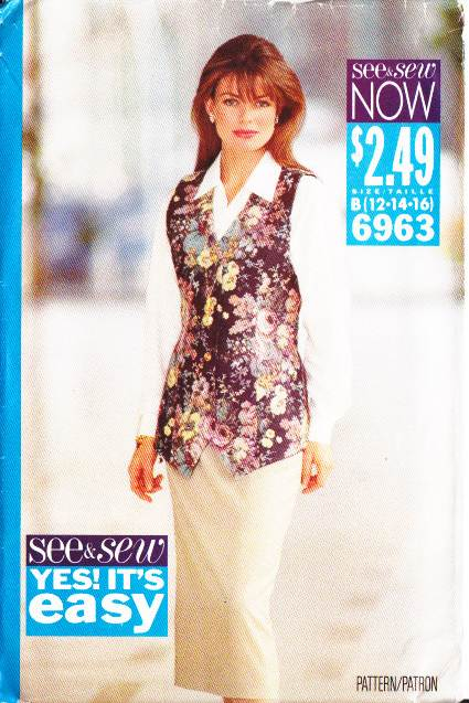 Misses Skirt Vest Sewing Pattern