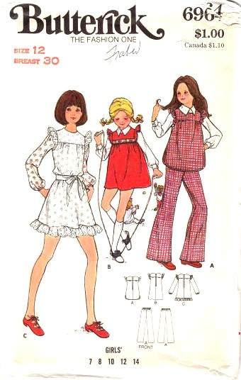 Butterick 6964 Girls dress sewing pattern