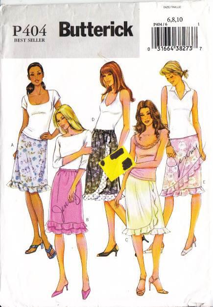 Butterick P404, sewing, Pattern, skirt
