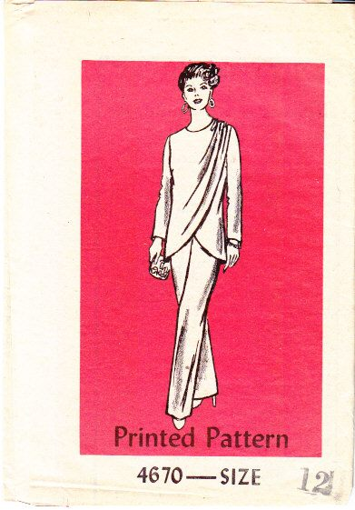 Vintage Mail Order Pant Suit 4670 Sewing Pattern