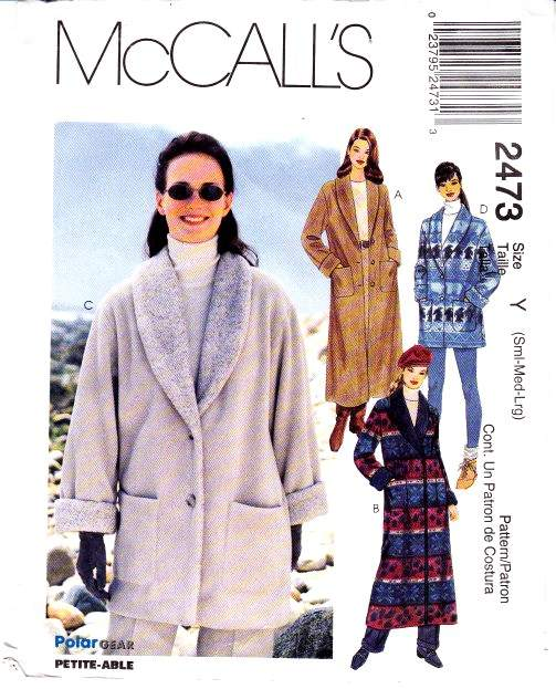 McCalls 2473 Pattern coat jacket