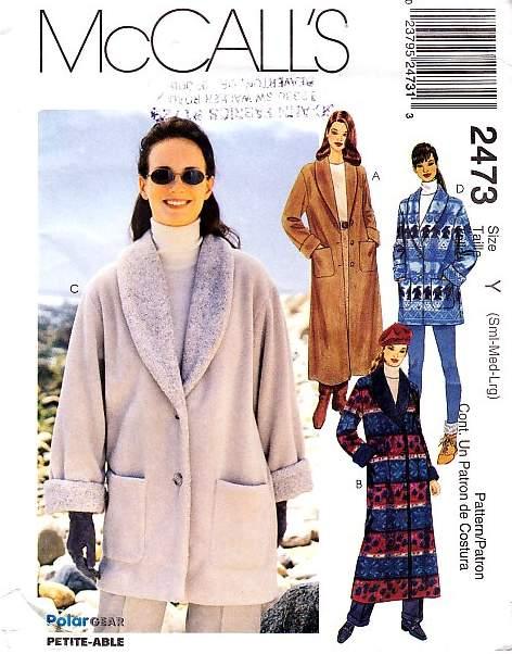 McCalls 2473 Pattern coat jacket