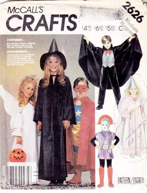 McCalls 2626 Childs Costume Sewing Pattern