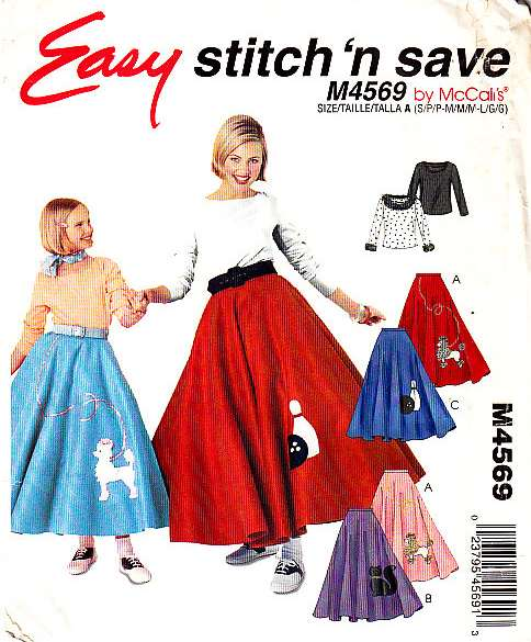 McCalls 4569 50s Costume sewing patternpattern