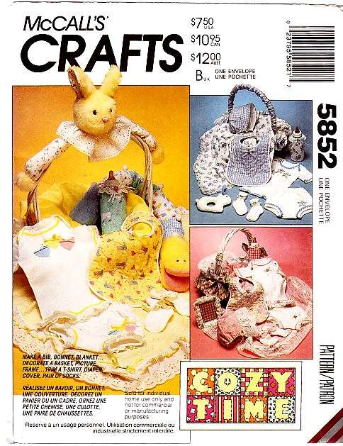 McCalls 5852 Baby Bib Sewing Pattern