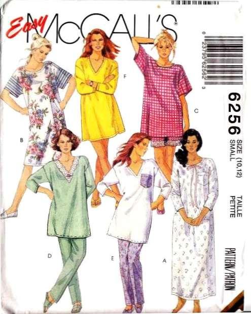 Nightshirt PJs pajamas sewing pattern