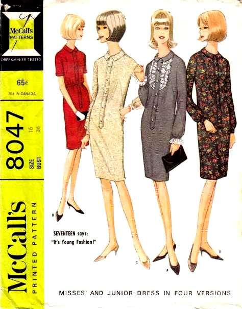 McCalls 8047 1960s Dress Sewing Pattern