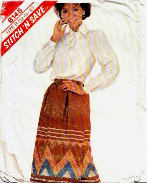 McCalls 8145 Secretary Blouse Skirt Sewing Pattern