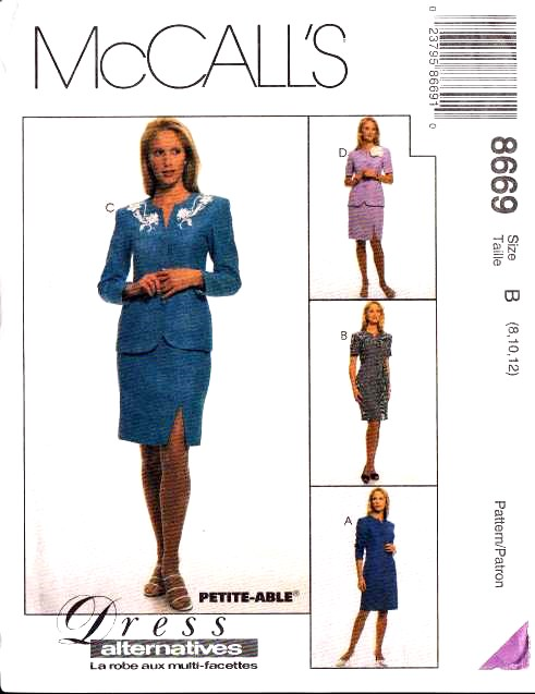 McCalls 8669, Sewing, Pattern, Sheath Dress, Dress