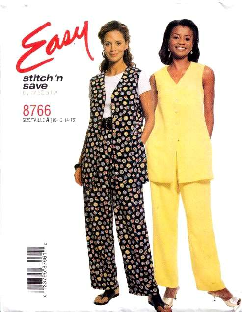 McCalls 8766 Vest & Pants Sewing Pattern