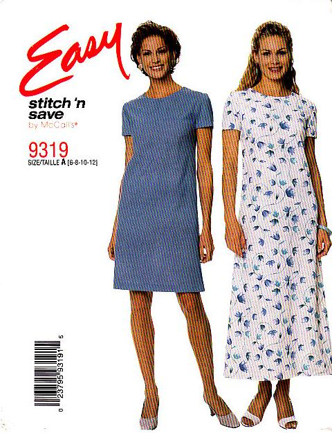 McCalls 9319 Dress Sewing Pattern