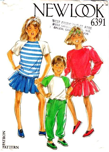 New Look 6391 Childs top Pants Sewing Pattern