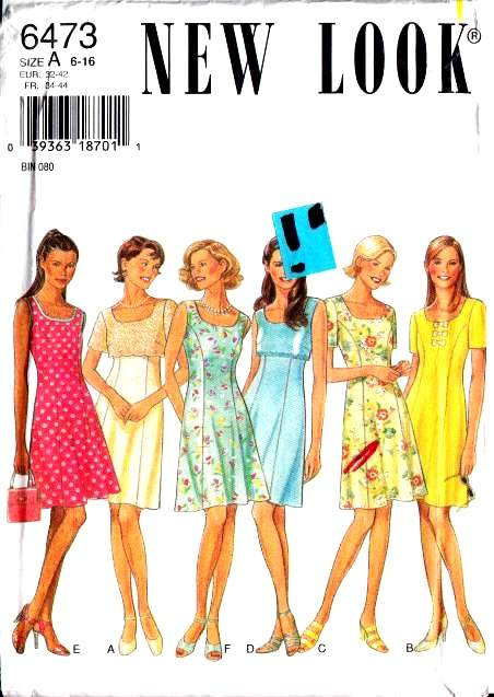 New Look 6473 Dress Sewing Pattern