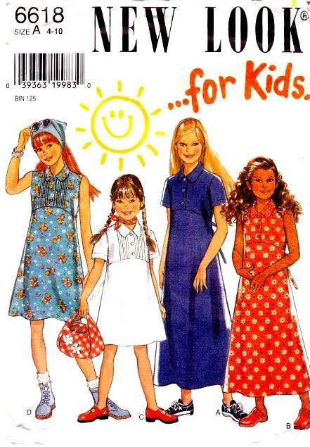 New Look 6618 girls dress sewing pattern