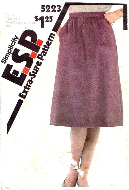 Simplicity 5223 Gathered Skirt Sewing Pattern