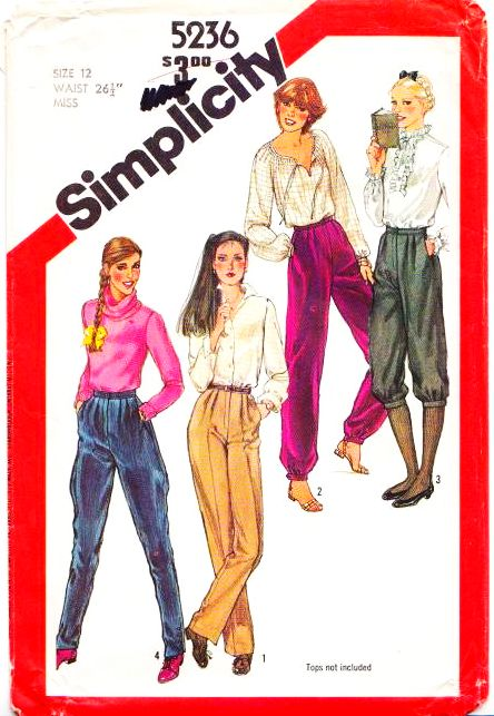 Simplicity 5236 Jodphur Pants Sewing Pattern