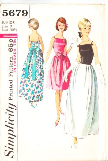 Simplicity 5679 Prom Cocktail Wedding Dress Sewing Pattern Vintage 60s