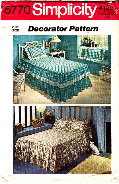 Simplicity 5770 Bed Spread Sham Sewing Pattern