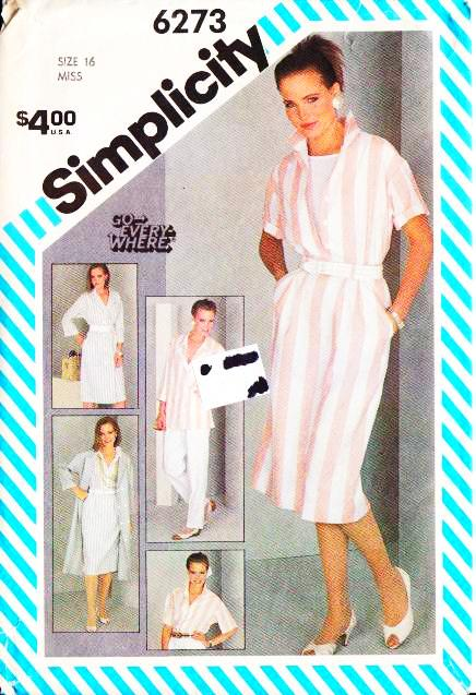 Simplicity 6273 Pants Dress Skirt Jacket Blouse Sewing Pattern