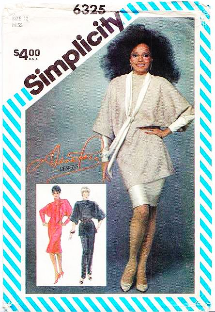 Simplicity 6325 Batwing Dress Pants Sewing Pattern