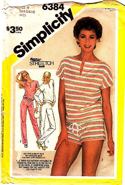 Simplicity 6384 Sexy Shorts Pants Pullover Top Sewing Pattern