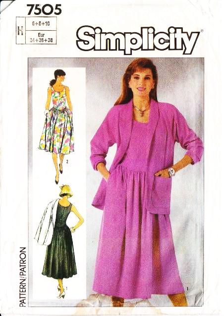 Simplicity 7505 Sundress, Jacket, Dress Sewing Pattern