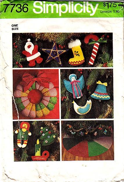 Simplicity 7736 Christmas Ornaments Sewing Pattern