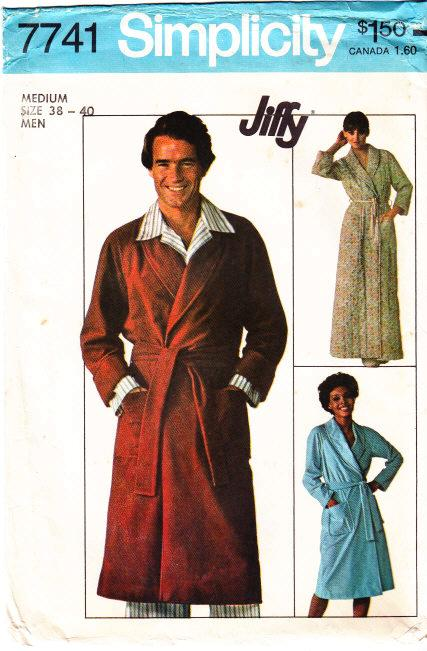 Simplicity 7741 Mens Jiffy Robe Sewing Pattern