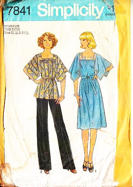 Simplicity 7841 Handkerchief Top Dress Sewing Pattern