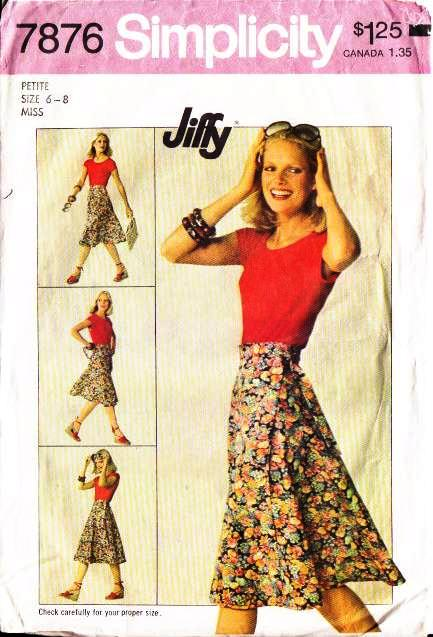 vintage, sewing, pattern, Simplicity 7876, Wrap Skirt