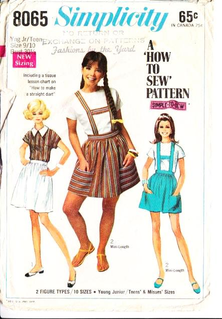 Simplicity 8065 Junior Teen Shirt Sewing Pattern