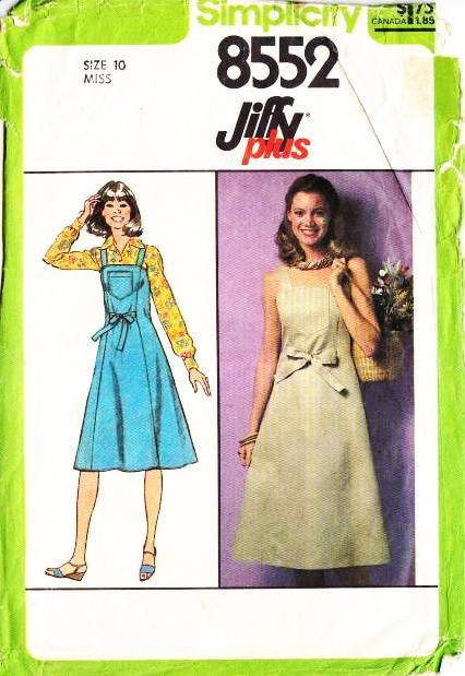 Simplicity 8552 Summer Sundress Wrap Jumper Dress Sewing Patter