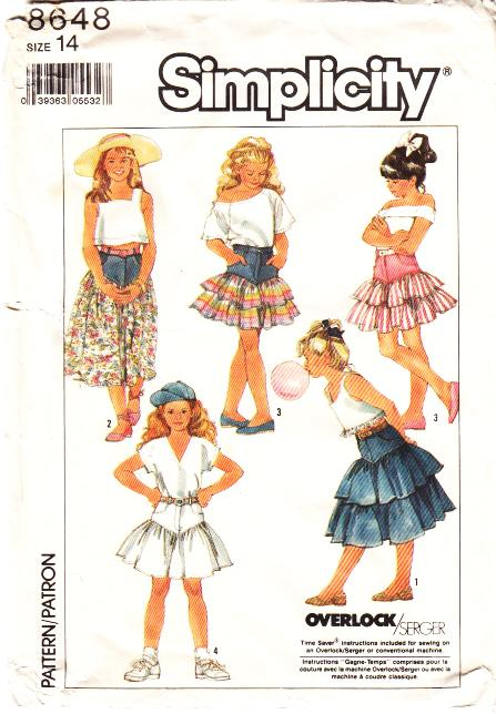50ab6d98ac5 Simplicity 8648 80s Girls  Jeans Style Country Girl