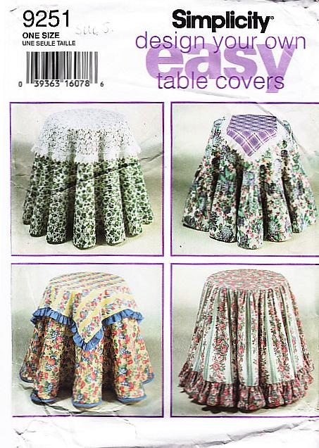 Simplicity 9251 Table Cloth Sewing Pattern