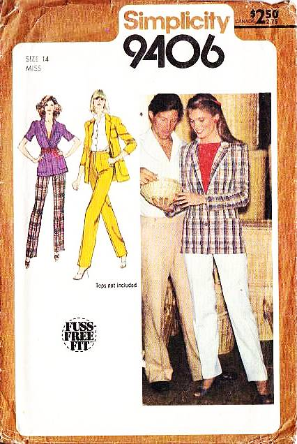 Simplicity 9406 Straight Leg Pants & Jacket Sewing Pattern