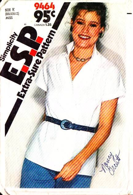 Simplicity 9464, Shirt, Sewing Pattern