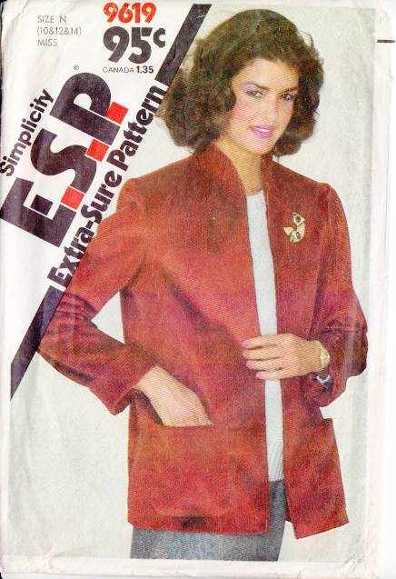 simplicity 9619 Misses Boxy Jacket Sewing Pattern