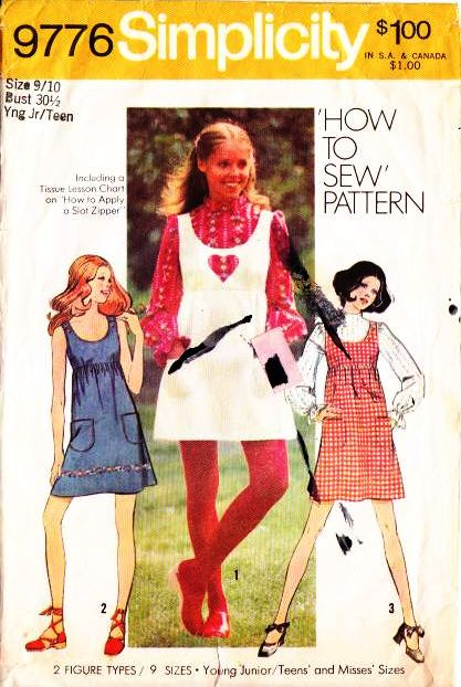 Simplicity 9776, Mini Jumper Dress Sewing Pattern