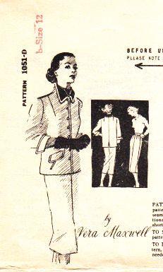 Vintage Spadea Vera Maxwell Sewing Pattern
