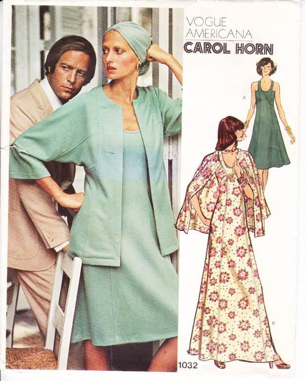 Vogue 1032 Sexy Round Neck Dress Sewing Pattern